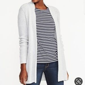 OLD NAVY Open-Front Shaker-Stitch Long Line Cardi